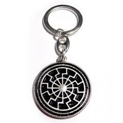 Black Sun (keychain in silver)