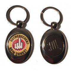 Gutmenschen - Nein Danke (Key ring with trolley coin in silver)