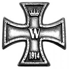 Eiserne Kreuz (Zierniete in Altsilber)